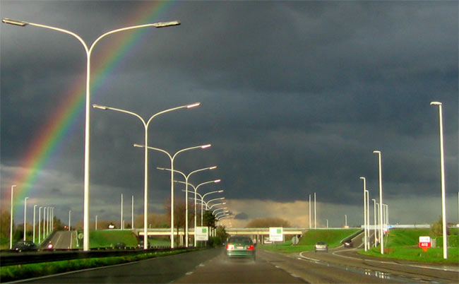 A12 Brussel-Antwerpen regenboog